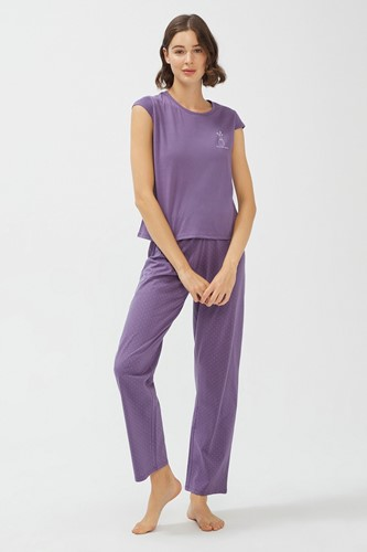 Picture of Base Purple Trousers Set