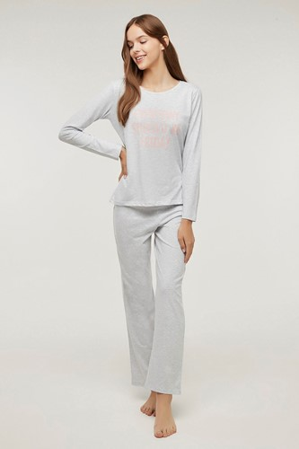 Picture of Friday Trousers Set Light Grey