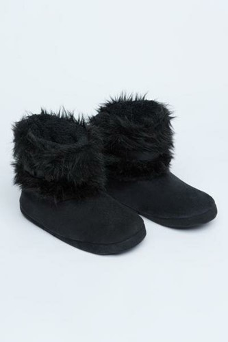Picture of Furry Belt Home Boot   Black