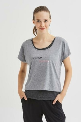 Picture of Double Dance Tshirt Anthracite