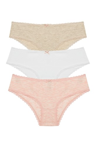 Picture of Daily Lace 3 Pack Hipster Beige Melange Mix